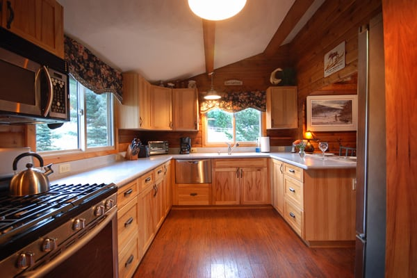 Kitchen at Rock Creek Vacation Rental in Montana