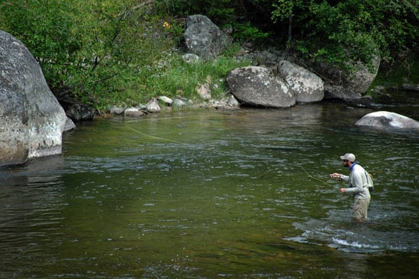Wading in Rock Creek