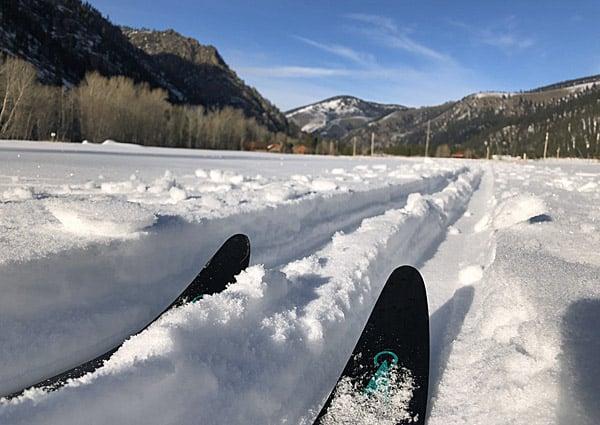 Cross Country Skiing on Rock Creek near Missoula Montana