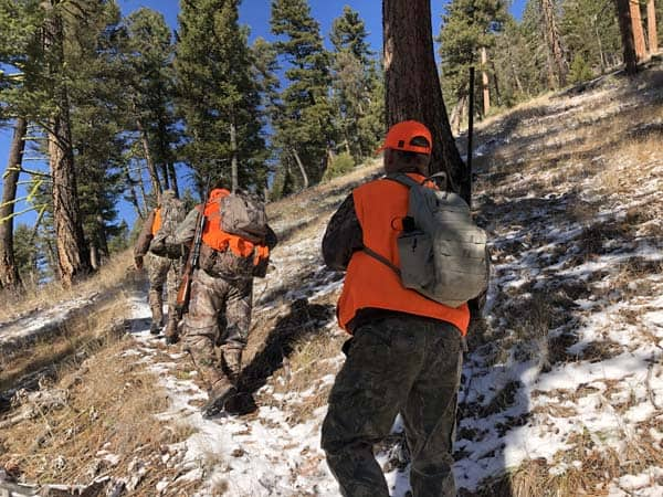 Hunting the Mountains near Missoula Montana for Elk and Deer