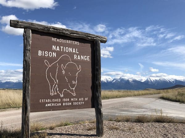National Bison Range in the Flathead Valley of Montana