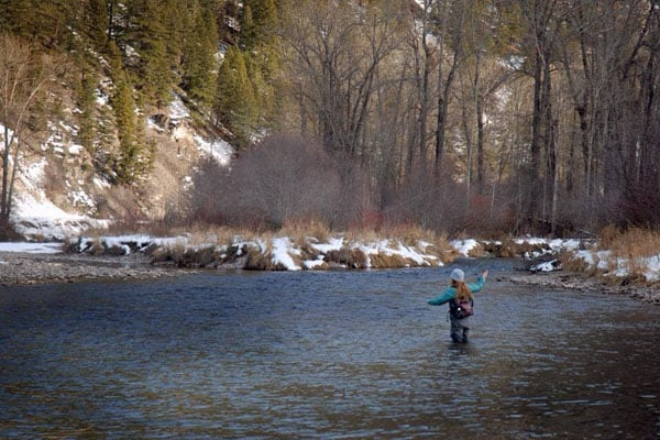 Winter Fishing On Rock Creek in Montana