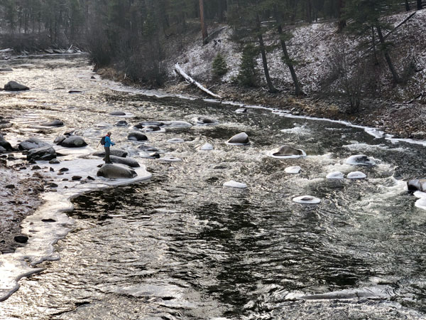 Fly Fishing Rock Creek in Winter